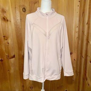 Fabletics pink Marrianne full zip jacket size 2X
